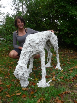 Standing lurcher - work in progress